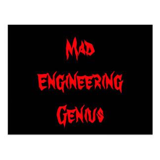 Mad Engineering Genius Geeky Geek Nerd Gifts Postcard
