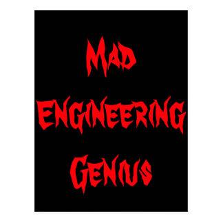 Mad Engineering Genius Geeky Geek Nerd Gifts Post Cards