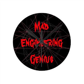 Mad Engineering Genius Geeky Geek Nerd Gifts Round Clock