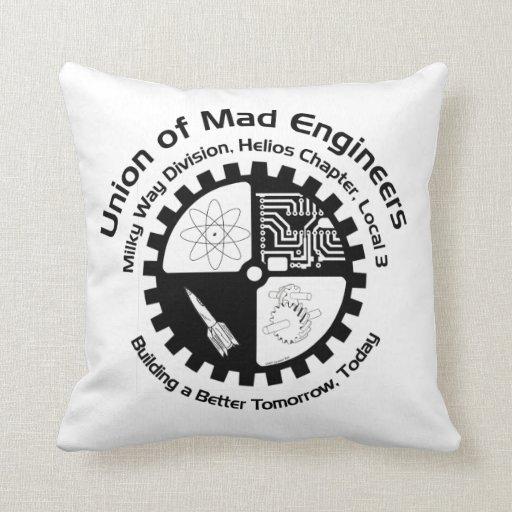 Mad Engineers Logo Throw Pillow