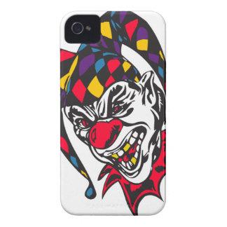 mad evil jester clown iPhone 4 Case-Mate case