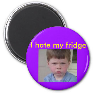 mad face, I hate my fridge Refrigerator Magnet