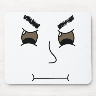 Mad Face Mouse Pad