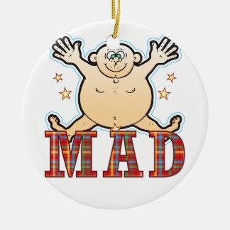 Mad Fat Man Ceramic Ornament