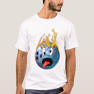 Mad Flaming Bowling Ball T-Shirt