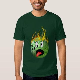 Mad Flaming Bowling Ball Tee Shirts