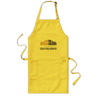 Mad For Chess (Reflective Chess Set) Long Apron