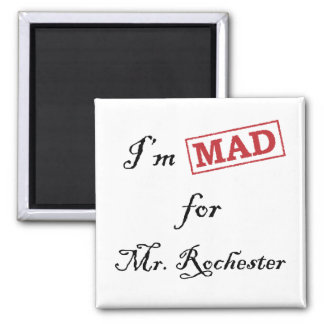 Mad for Mr. Rochester 2 Inch Square Magnet
