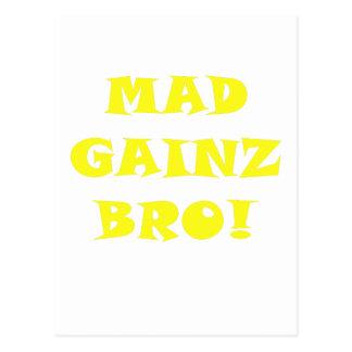 Mad Gainz Bro Postcard