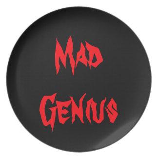 Mad Genius Engineering Geeky Geek Nerd Gifts 2yz Plate