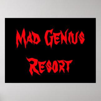 Mad Genius Resort Poster Dorm Halloween Nerd Gift