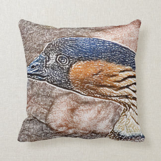 mad goose colored pencil bird throw pillow