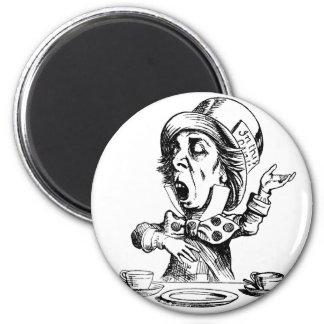 Mad Hatter 2 Inch Round Magnet