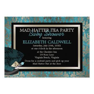 Mad Hatter Alice in Wonderland Bridal Shower Custom Invitation