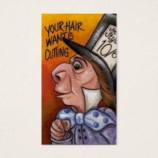 MAD HATTER Alice in Wonderland Business Card