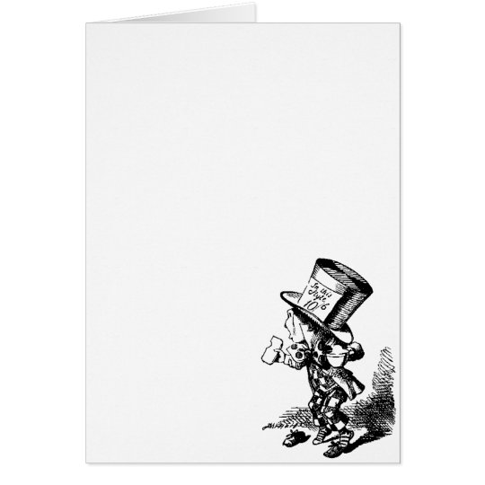 Mad Hatter - Alice In Wonderland Card