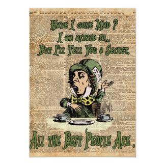 Mad Hatter,Alice In Wonderland,Quote Vintage Art Card