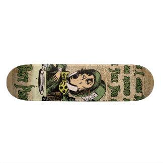 Mad Hatter,Alice In Wonderland,Quote Vintage Art Skateboard Deck