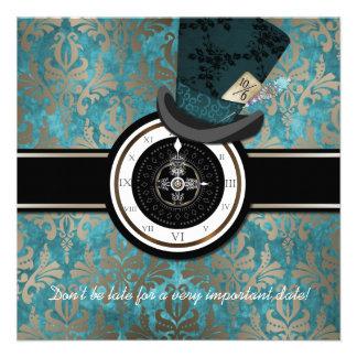 Mad Hatter Alice in Wonderland Wedding Invitation