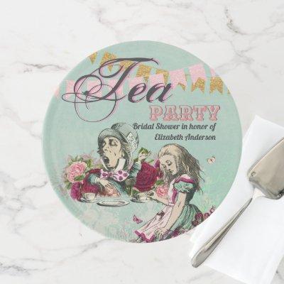Mad Hatter Alice Vintage Tea Party Bridal Shower Cake Stand
