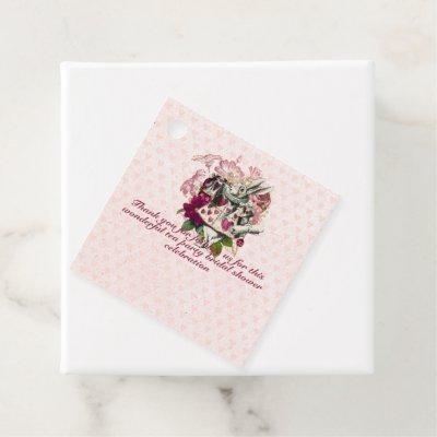 Mad Hatter Alice Vintage Tea Party Bridal Shower Favor Tags
