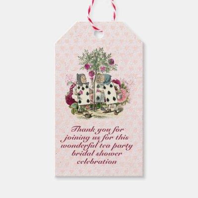 Mad Hatter Alice Vintage Tea Party Bridal Shower Gift Tags