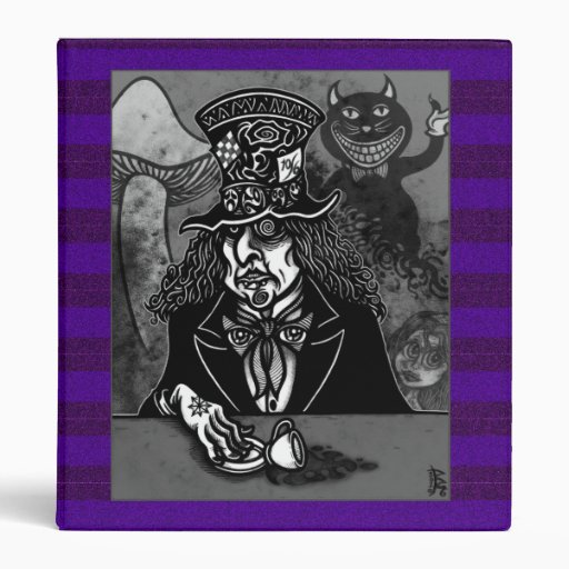 Mad Hatter and Cheshire Cat Vinyl Binders