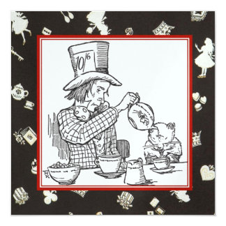 Mad Hatter and Dormouse Card