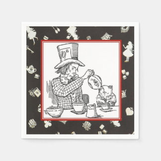 Mad Hatter and Dormouse Paper Napkin