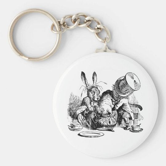 Mad Hatter and March Hare dunking the Dormouse Keychain