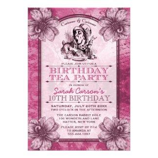 Mad Hatter Birthday Tea Party Invitations