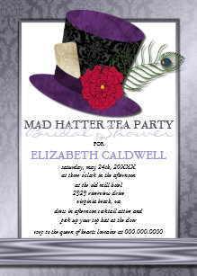 Mad hatter invitations announcements zazzle mad hatter bridal shower invitation filmwisefo