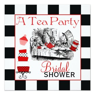 Mad Hatter Bridal Shower Invite