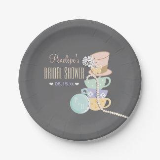 Mad Hatter Bridal Shower Paper Plate