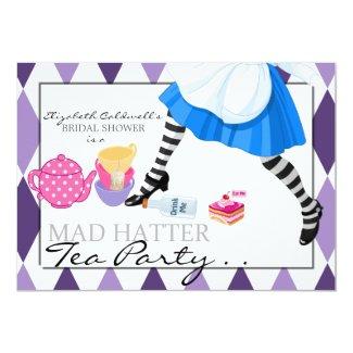 Mad Hatter Bridal Shower Tea Party Invitation