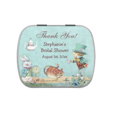 Mad Hatter Bridal Shower Thank You Favor Jelly Belly Tin at Zazzle