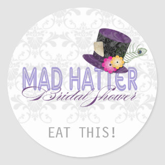 Mad Hatter Bridal Shower Thank You Stickers