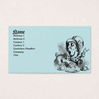 Mad Hatter Business Cards