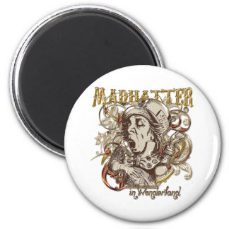 Mad Hatter Carnivale Style (Gold Version) Magnets