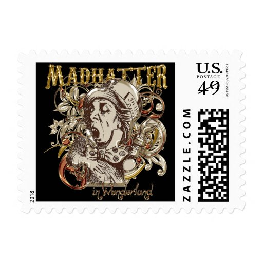 Mad Hatter Carnivale Style (Gold Version) Postage Stamp