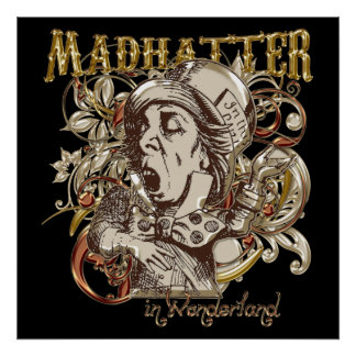 Mad Hatter Carnivale Style (Gold Version) Posters