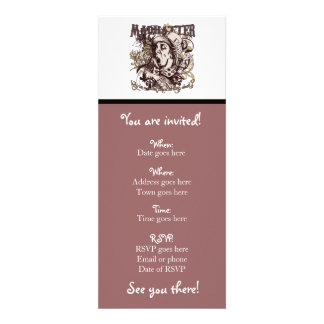 Mad Hatter Carnivale Style Personalized Invite