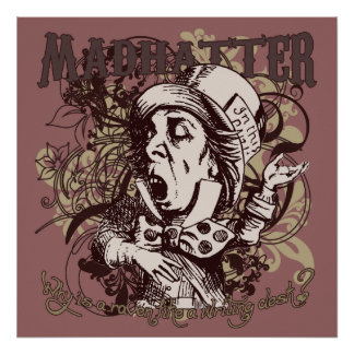 Mad Hatter Carnivale Style Print