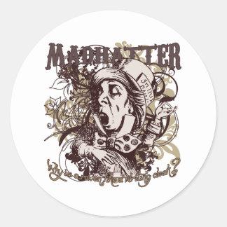 Mad Hatter Carnivale Style Round Sticker