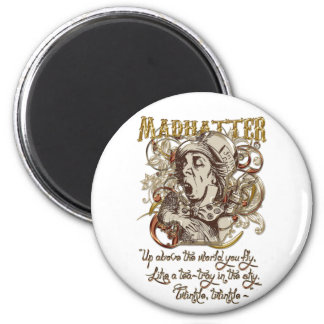 Mad Hatter Carnivale Style (with poem) Refrigerator Magnets