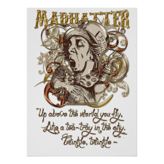 Mad Hatter Carnivale Style (with poem) Print