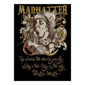 Mad Hatter Carnivale Style (with poem) Poster