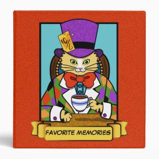 Mad hatter Cat Vinyl Binders