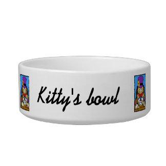 Mad hatter cat bowl