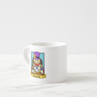 Mad hatter cat espresso cup